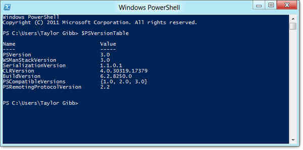 Cach chay PowerShell 2 va 3 dong thoi tren Windows 8